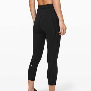 NWT Lululemon time to sweat crop 23""
